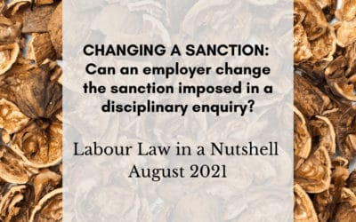 Can an employer change the sanction imposed in a disciplinary enquiry?